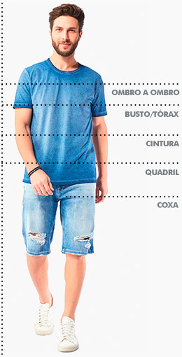 Tabela de medidas Index Masculino