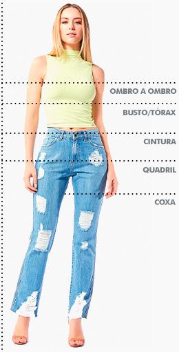 Tabela de medidas Index Feminino